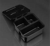 打包盒 塑料餐盒 一次性塑料餐盒 一次性塑料饭盒 米饭盒 商务套餐盒 瑞强众联 高端 透明 厂家直销 敦煌