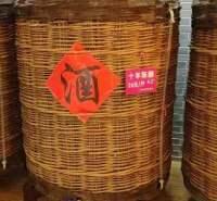 1-5吨桑皮纸裱糊酒海 藤编酒海制作报价生产 山东酒海供应