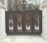 铝艺庭院大门  铝合金门  庭院门安装