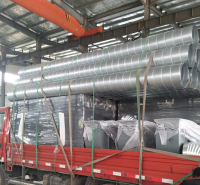 厂家定制通风管道镀锌螺旋风管  加工除尘工程镀锌风管