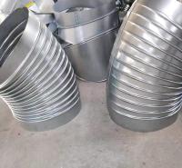 工程排烟管道弯头 白铁皮烟囱90度螺旋风管弯头 废气处理设备安装配件