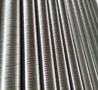 厂家定制加工螺旋风管白铁皮螺纹通风管道 环保除尘烟机排烟管