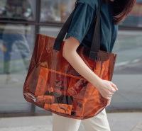 透明镭射袋子PVC手提袋广告活动购物礼品袋果冻包展会网红定制