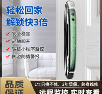 智能家居 智能安防 家装家具建材 郑州指纹锁  远程开锁带摄像头  M8