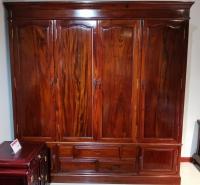 素面四门衣柜 红木衣柜 非洲酸枝衣柜