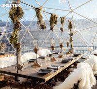 婚庆宴会透明球形餐厅 海边露营观景酒店帐篷 4-50米直径可定制