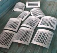 铝合金空调出风口 铝合金百叶窗 单层百叶风口厂家