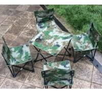 尚峰户外 野户外钓鱼凳子帆布凳迷彩靠背椅自驾游车载垂钓椅凳折叠椅子套装