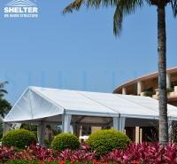 海边沙滩宴会酒店篷房 户外活动临时遮阳大篷 可容纳千人定制帐篷