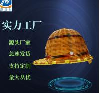 圆型竹编安全帽 带钢板防晒防砸透气建筑工地 竹子藤编织安全头盔