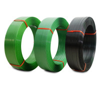阳江PET塑钢打包带厂家 裕苗包装 深圳PET塑钢打包带厂家  PET塑钢打包带批发