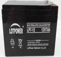乐珀尔LOTPOWER蓄电池 12V7AH 警报音响LP5-12监控UPS机房/消防
