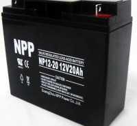 NPP耐普蓄电池12V20AH NP12-20AH 铅酸免维护蓄电池 消防/灯塔医疗应急照明门禁信号