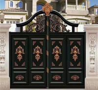 河南铝艺庭院大门  铝合金晓门  庭院门安装