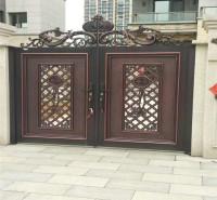 中式大门  铝合金庭院门   欧式铝艺门定制