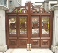 张店铝艺庭院门  单开仿古大门   铝艺门价格