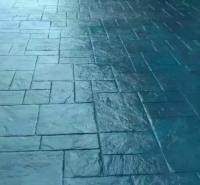 水泥压膜地面单价 水泥印花地面价格 压模砼施工工艺 晶邦新材料