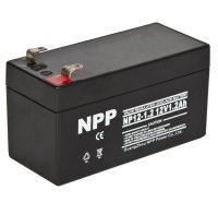 NPP耐普蓄电池NP12-1.2 12V1.2AH铅酸蓄电池报警器扩音机专用储能消防医疗电梯照明门禁