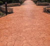 混凝土压花路面做法 印花地坪强化料 水泥路面压纹 晶邦新材料