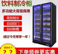 定制超市啤酒柜饮料冰柜商用立式双门保鲜冰箱酒吧清吧冷藏展示柜