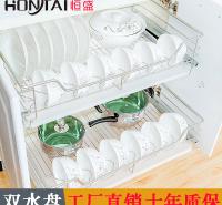 恒盛拉篮厨房橱柜碗架沥水架304不锈钢碗篮调料蓝