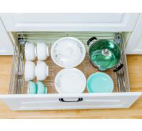 恒盛居乐美厨房橱柜拉篮调味篮置物架碗篮沥水盘304不锈钢碗架沥水架
