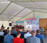 航空军事文化培训基地 户外体育训练营安检帐篷 赛尔特人字顶篷房