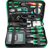 老A(LAOA)53件电讯维修组套 钢丝钳螺丝刀电烙剥线钳 电子工具包套装 LA101353
