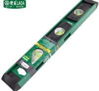 老A(LAOA)水平尺 高精度 透视窗铝合金测量尺 靠尺 平衡尺 400mm LA515016