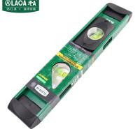 老A(LAOA)水平尺 高精度 透视窗铝合金测量尺 靠尺 平衡尺 300mm LA515012