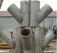 45°的碳钢斜三通 Y型三通 世铭管道是不锈钢生产厂家