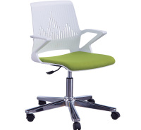 简约舒适轮椅 现代办公室专用休闲椅 背弓形网布转椅鼎优家具