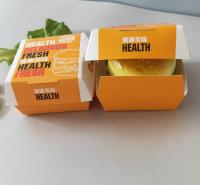 汉堡盒子免折叠外卖防油汉堡纸打包盒加厚一次性汉堡盒厂家直销支持定制