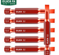老A(LAOA)1/4英寸一字批头 带磁性电动螺丝刀批头 风批批嘴 LA612S50