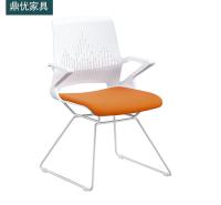 塑料会议钢筋椅 员工办公电脑椅厂家直销 休闲室洽谈椅 鼎优培训椅