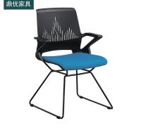 可叠层培训椅 公司会议椅厂家直销 办公网布椅 鼎优培训椅