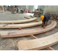胶合木梁厂家批发加工弧形胶合木 曲面胶合梁柱