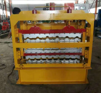 全自动压瓦机 彩钢设备 840900800三层竹节彩钢琉璃压瓦机