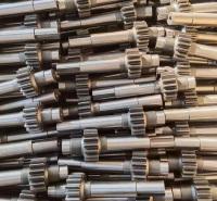碳钢传动轴 花键齿轮轴 伞齿轴 加工定做