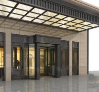西安亚格玻璃雨棚免费上门测量尺寸 钢化玻璃雨棚设计