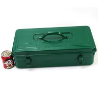 老A(LAOA)铁皮工具箱收纳箱 加厚车载手提箱 配件箱 方形箱子 18英寸 LA113018