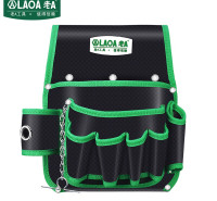 老A(LAOA)电工工具包 腰包 工具收纳包 电讯维修安装工具挂包 LA115602