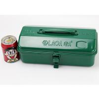 老A(LAOA)铁皮工具箱收纳箱 加厚车载手提箱 Y形单层箱子11英寸 LA113211