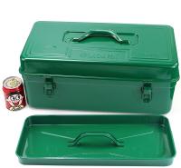 老A(LAOA)18英寸方形铁皮工具箱手提箱零件收纳箱带内层 LA113118