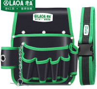 老A(LAOA)电工工具包 腰包工具收纳包电讯维修安装工具挂包配腰带 LA115602