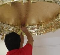 金梓箔业 14x14cm金箔 天花吊灯装饰金箔 15色多彩工艺装饰品金箔