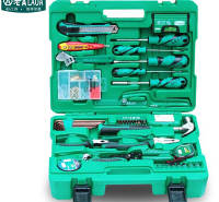 老A(LAOA)50件家装工具套装 活动扳手 螺丝刀 内六角扳手 维修工具组套 LA105050
