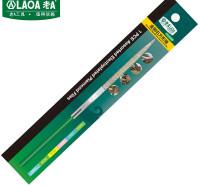 老A(LAOA)金刚石锉刀 整形锉什锦锉 修毛边锉子 方形尖锉5x180mm LA165405