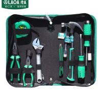 老A(LAO)9件套居家维修工具套装 螺丝刀活动扳手钢丝钳尖嘴羊角锤组套 LA101809