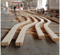木结构建筑材料加工弧形胶合木 曲形胶合木 CLT 集成材